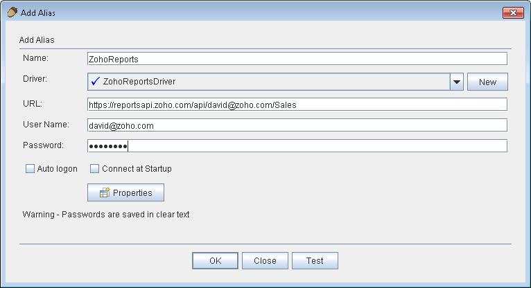 Zoho Analytics - API Documentation